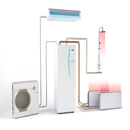 11 kw mitsubishi electric air source pump puhz w112vha. Black Bedroom Furniture Sets. Home Design Ideas