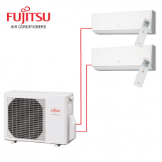 Fujitsu 2 Rooms Wall Mounted  Heat Pump AYOG14LAC2 4 kW