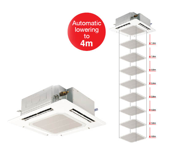 mitsubishi electric automatic lowering grille