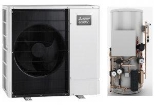 Mitsubsihi Ecodan heating domestic air source heat pump