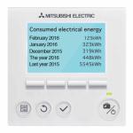 Mitsubishi Ecodan controller energy monitoring